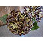 Artificial-Silk-Hydrangea-Spray-Pick-Big-Head-Faux-Bouquet-Flower-Bright-Petals-Bush-on-Short-Stem-in-Vibrant-Colors-13-Inches-Blooming-Florals-for-Home-Wedding-Decor-Embellishing-Dark-Green