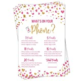What's On Your Phone - Party Game - Bridal Shower - Baby Shower - Pink...