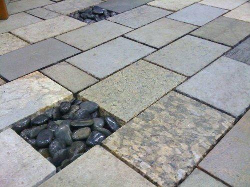 Amazoncom Recycled Granite Pavers X Sample Kit Home Kitchen - Granite patio pavers