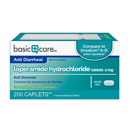 Basic Care Anti Diarrheal Loperamide Tablets product image