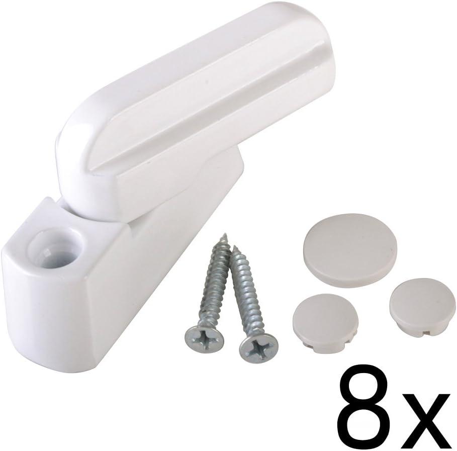 4 piezas / 8 piezas / 12 piezas bloqueadores de ventanas - aleación de zinc blanco - Cierres de seguridad extra para cerradura de puerta / ventana de UPVC/PVC