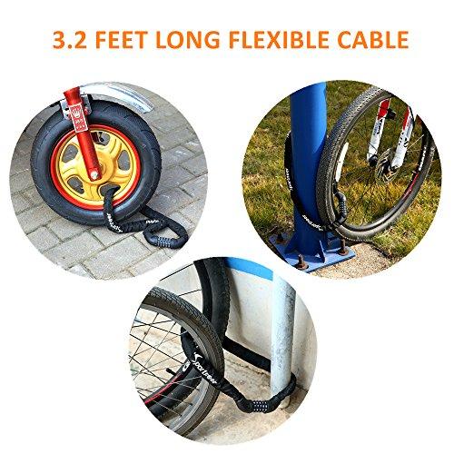 Sportneer Bicycle Chain Lock, 5-Digit Resettable Combination Anti-theft Bike Locks by Sportneer (Image #4)