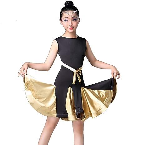 Magogo Vestido de Baile Latino para niñas, Traje de Rumba para ...