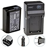 BM Premium NP-FW50 Battery and Charger for Sony DSC-RX10 IV, DSC-RX10 III, DSC-RX10 II, DSC-RX10, Alpha 7, Alpha 7R, a7, a7R, A7s, A7s II, a3000, a5000, a6000, a6300, a6500 Digital Cameras