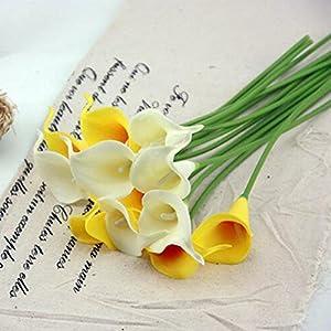 Angel3292 1Pc Artificial Calla Lily Silk Flower Bridal Bouquet Wedding Home Romantic Decor 6
