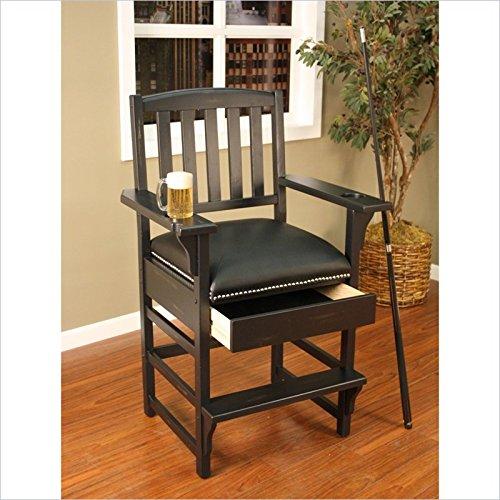 American Heritage Billiards King Billiard-Game Room Chair 387215, Brown