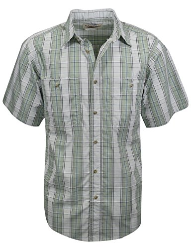 Wrangler Wrinkle Resist Plaid Short Sleeve Shirt Olive Size - Resist Wrinkle Shirt Poplin