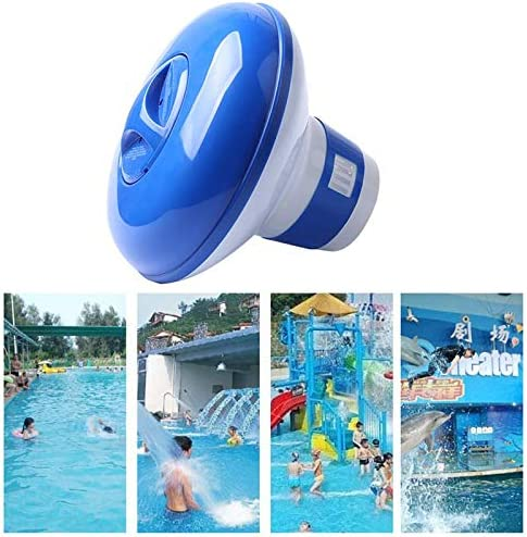 Hamkaw Dispensador Cloro Piscina, Dispensador Cloro Flotante Piscina con 100pcs Tableta de Limpieza de Piscinas: Amazon.es: Hogar