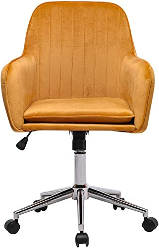 LOYE Velvet Home Office Chair Desk Chair Mid-Back Mordern Task Chair