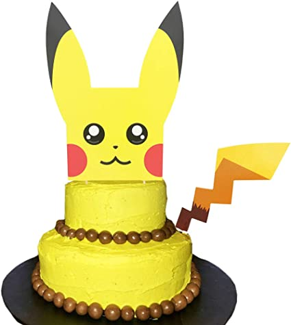 Awe Inspiring Amazon Com Pikachu Inspired Cake Topper Double Sides 8 0 Inch Funny Birthday Cards Online Eattedamsfinfo
