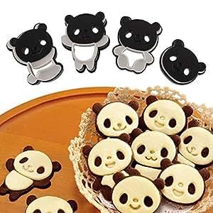 12 x Molde Modelo Cortador De Pan Sándwich Oso Panda Herramienta Sandwich azúcar pastel cocina