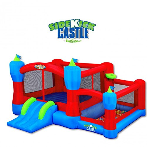 Blast Zone Sidekick Bounce House, Ball Pit, Slide and Hoop by Blast Zone