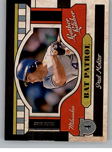 2019 Leather and Lumber Bat Patrol Baseball Retail #12 Paul Molitor Milwaukee Brewers Official MLBPA Trading Card From Panini