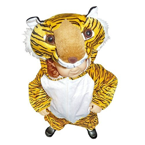 Tiger Girl Costumes (Fantasy World Boys/Girls Tiger Halloween Costume, Sizes 4T, An28)