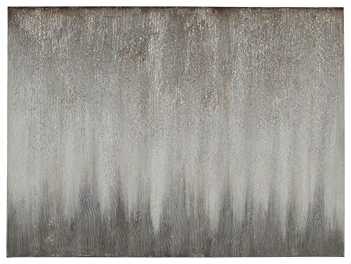 Signature Design by Ashley A8000252 Paytah Wall Art, Silver Finish (Wall Design Abstract Art)