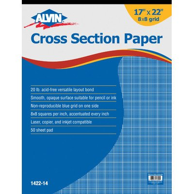 Alvin 1422-14 Cross Section Paper Pad; 8