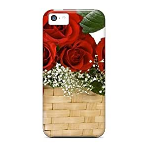MMZ DIY PHONE CASENew Cute Funny Vector Birds High Roses Basket Case Cover/ iphone 5/5s Case Cover