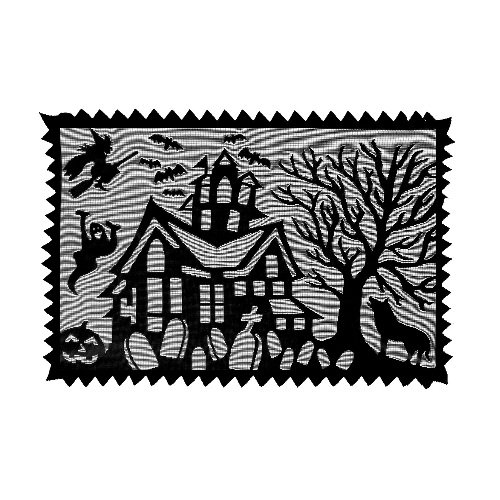 Heritage Lace Spooky Hollow 14-Inch by 20-Inch Placemat, Black, Set of -