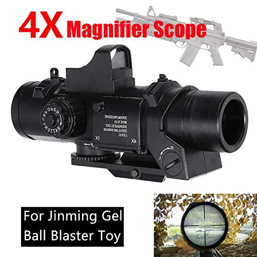 Rejoicing Jinming Gel Ball Toy Scope 4X Magnifier Scope Red Dot Sight for Jinming Gel Ball Blaster Water Accessories for Children Playing