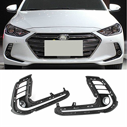 (Motorfansclub LED DRL Daytime Running Light Fog Lamp with Turn Signal For Hyundai Elantra AD 2017)