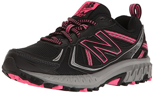 New Balance Women's WT410v5 Cushioning Trail Running Shoe, Black, 8.5 D US