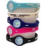 Power Energy, braccialetti Power Balance, sportivo in silicone, braccialetto da polso ologramma sportivo, con minerali naturali e ioni negativi, Pink