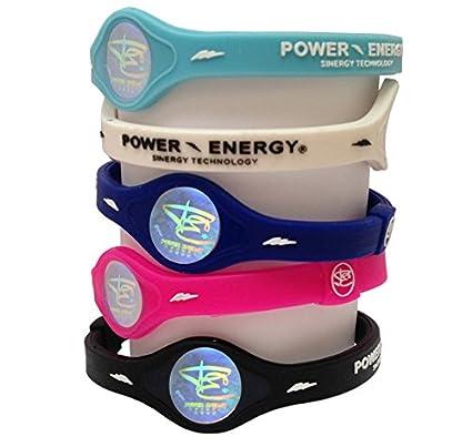 Power Energy Energía Equilibrio Pulsera de Bandas, Deportes de Silicona, Holograma Pulsera muñeca Banda, licores con minerales Naturales y Iones Negativos, Negro