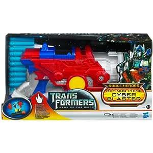 Hasbro Transformers 3 Optimus Prime Cyber Blaster - Lanzador de dardos con 10 dardos