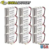 (12-PACK) Exell Battery Door Lock 9V 6-Cell Battery Pack Fits Ilco Unican & Kaba Ilco 502238, 5022501070, 52238, 700, 884950, BL09, HTL-2, IL22, Interstate DRY0048, MLKBA0603, PM1700, Style D Ilco