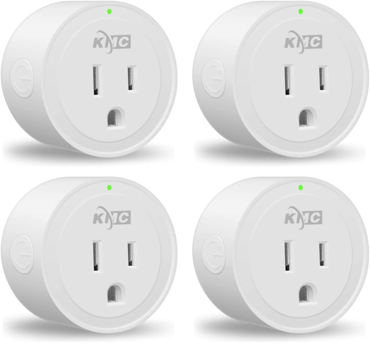 Smart Plug, KMC WIFI MiNi Outle Works with Alexa, Google Home & IFTTT, Smart Life, No Hub Required, Remote Control Your Home Appliances from Anywhere, ETL Certified, Only Supports 2.4GHz Network(4 Pack: Industrial & Scientific