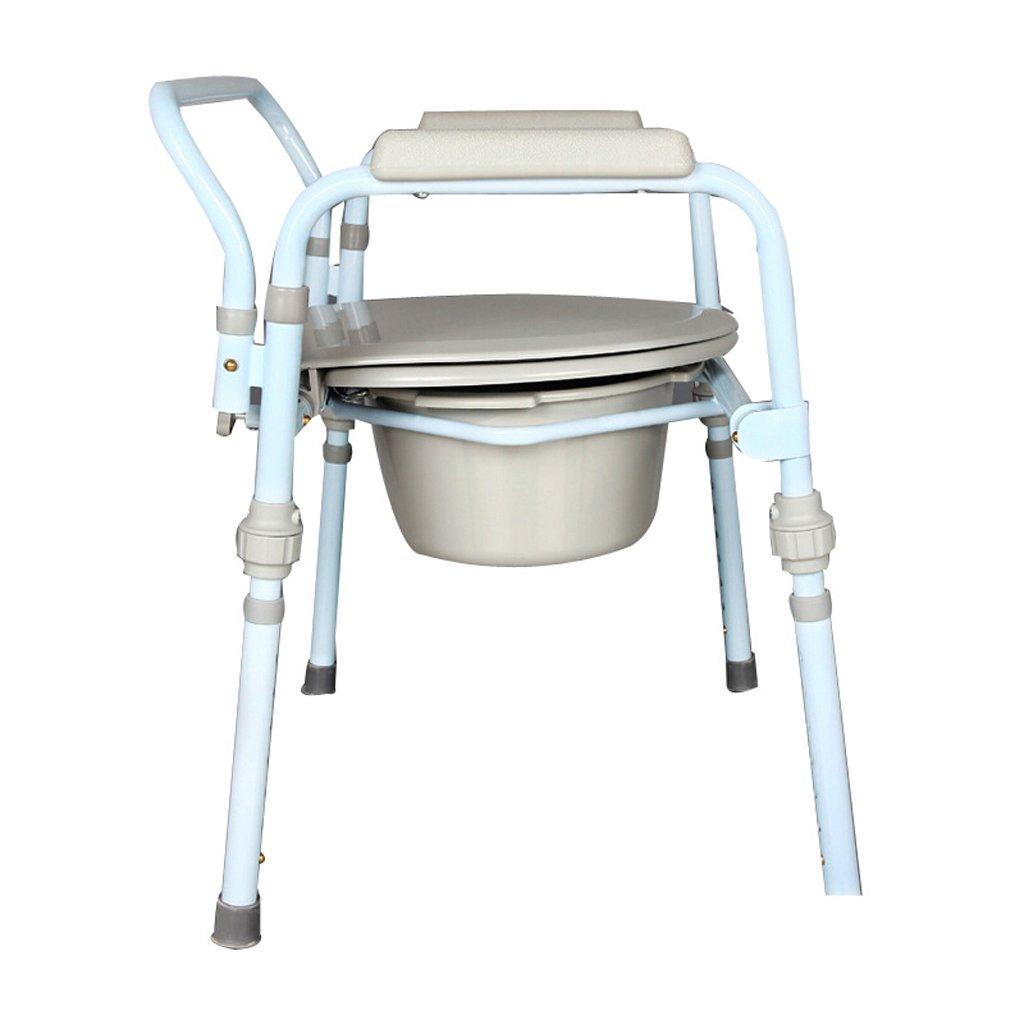 LXN 椅子バスチェア便座折り畳み式妊婦老人トイレチェア頑丈な防水炭素鋼 B07DPBH6MF