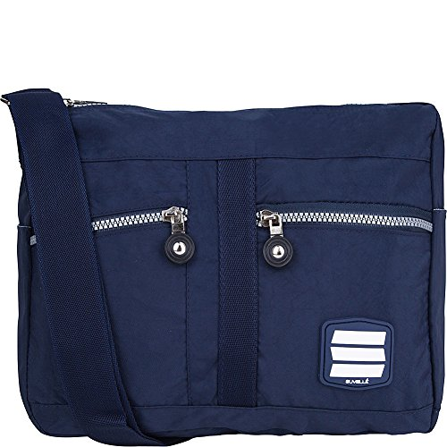 Suvelle Lunch Crinkle Nylon, Water-Resistant Crossbody Bag, Shoulder Bag, Handbag, Purse, Everywhere, Everyday Multi Pockets Organizer For Girls, Teens and Women # 1951 (Navy)