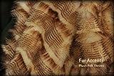 Fur Accents Faux Fur Throw Blanket / Rich Brown Feather Fur 60'' X 70''