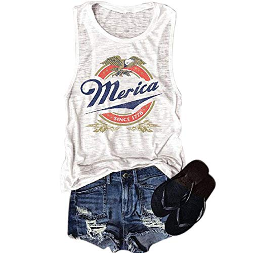 Sexy 4th Of July Costumes - SIAEAMRG 4thofJulyShirts for Women, Patriotic Shirts