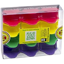 TacoProper 11934PF Proper Fiesta Pak, Set of 12 Taco Holders, 1.75 x 1-Inch, 12-Pack, Multicolored