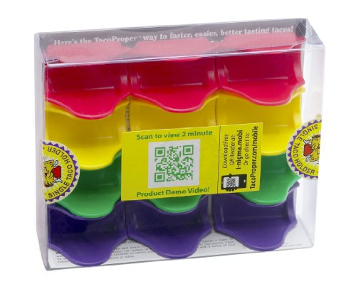 TacoProper Taco Holder FiestaPak, Set of 12, Made in the (Disposable Taco Holder)