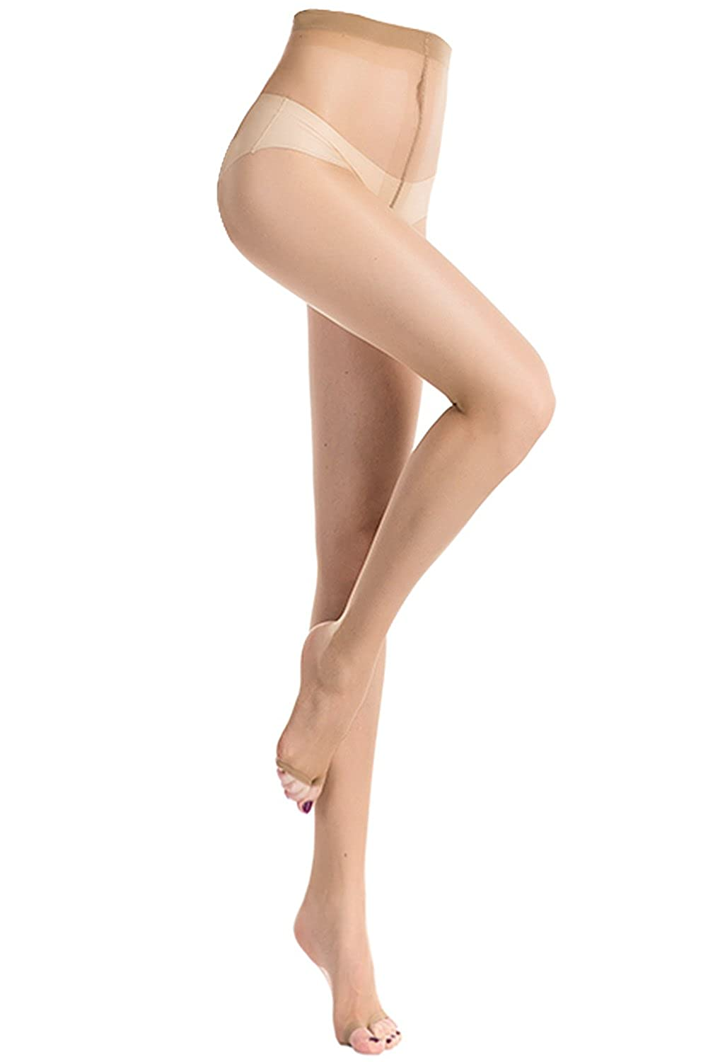 f62d5dde5 Amazon.com  Stocking Fox Women s 20-Denier Toeless Pantyhose Sheer Tights 3- Pack  Clothing