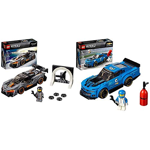 LEGO Speed Champions McLaren Senna 75892 Building Kit (219 Pieces) Speed Champions Chevrolet Camaro ZL1 Race Car 75891 Building Kit (198 Pieces)