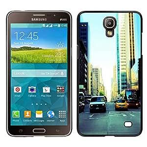 // PHONE CASE GIFT // Duro Estuche protector PC Cáscara Plástico Carcasa Funda Hard Protective Case for Samsung Galaxy Mega 2 / NYC Traffic /