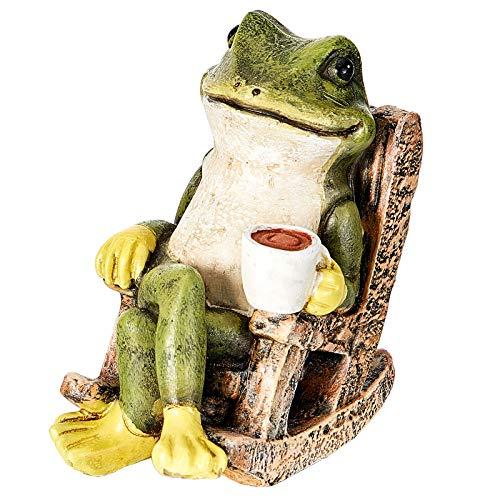 Jetec Miniature Frog Garden Statue Miniature Fairy Garden Outdoor Accessory Figurine Fairy Garden Resin Statues Indoor…