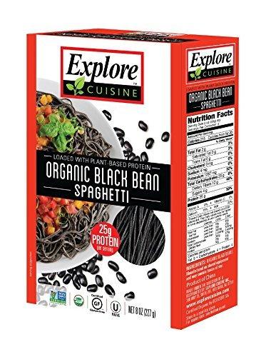 Low Calorie Pasta (Explore Asia Organic Black Bean Spaghetti, 8.0 Ounce Pouch)