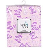 Kushies Baby Percale Fitted Crib Sheet, Pink Butterfly