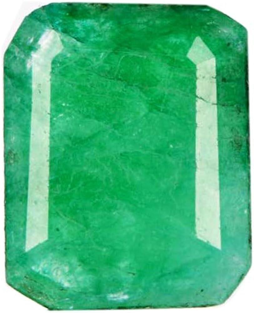 Gemhub Mayo Piedra del zodíacostone Esmeralda Verde 4.90 CT. Piedra Preciosa Verde Esmeralda para Colgante/Anillo/Collar AO-663