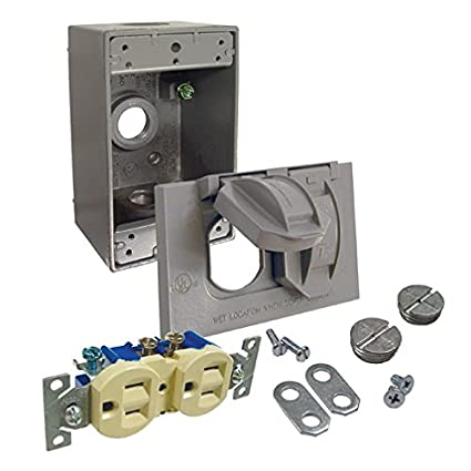Hubbell Bell 5839 5 Cover And Duplex Receptacle Weatherproof Box