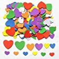 Foam Adhesive Hearts, 540-600pcs Mixed Foam Heart EVA Stickers,Self Adhesive DIY Craft Sticker Embellishment for Kids & Home Decoration