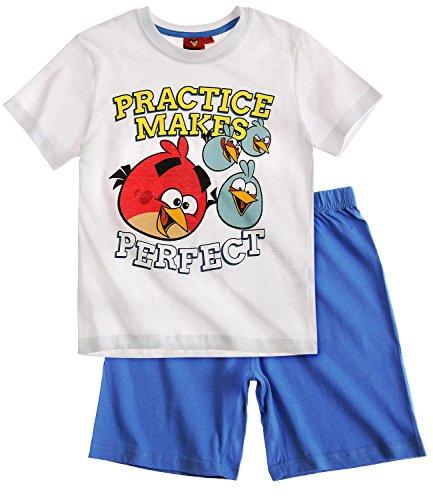 Angry Birds Jungen Shorty-Pyjama - weiß - 152