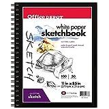 Office Depot Sketchbook, 8 1/2in. x 11in, 100 Sheets, 195110-11980