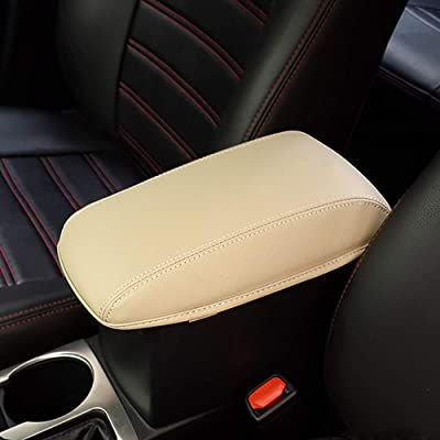 Leegi Car Armrest Box Cover Center Console Saver Covers for 2014 2015 2016 2020 2020 Toyota Corolla,Beige: Automotive
