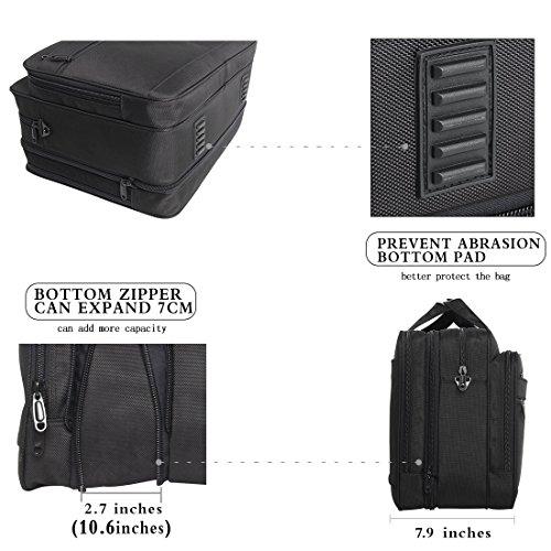 17-18-18.5 inch Laptop Bag,Water Resisatant Business Laptop Briefcase,Expandable High Capacity Shoulder Bag,Nylon Multi-Functional Shoulder Messenger Bag for Men Fits 17 inch Loptop ,Computer,Tablet by NULL (Image #5)