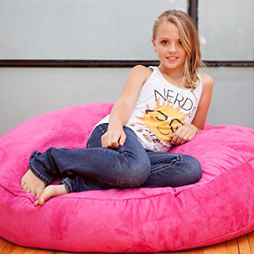 Jaxx Cocoon Jr. Kids Bean Microsuede Bag, 4', Fuchsia by Jaxx